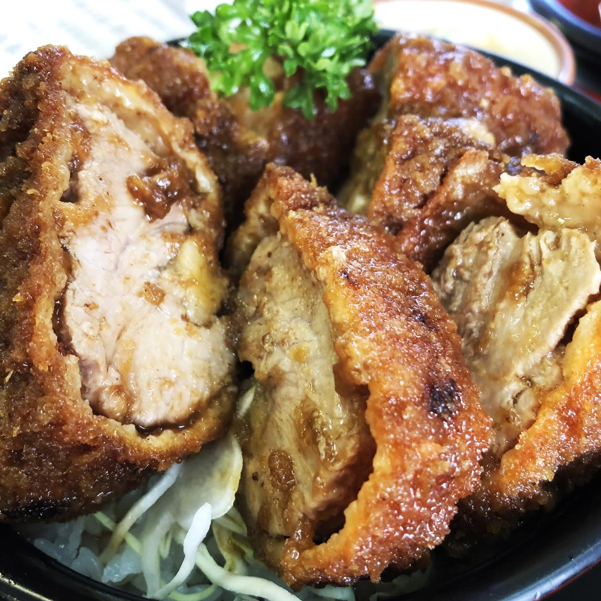 岳温泉、成駒のソースカツ丼