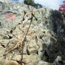 乾徳山・岩場