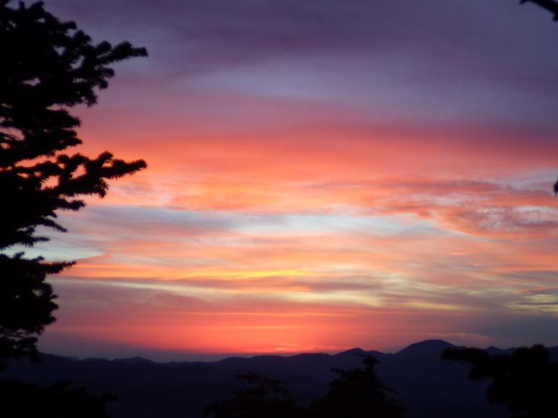 駒の小屋から見た夕焼け