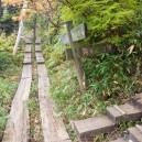 会津駒ヶ岳山頂への分岐。まっすぐ行くと中門岳。