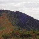 中門岳に向かって歩いてきた稜線を振り返る