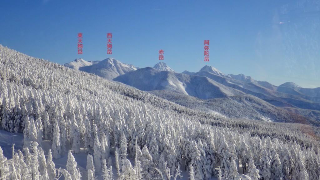 赤岳方面の眺め