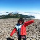 硫黄岳山頂から北八ヶ岳方面を望む