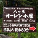 桜平への林道入口