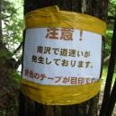 南沢で道迷い多発?
