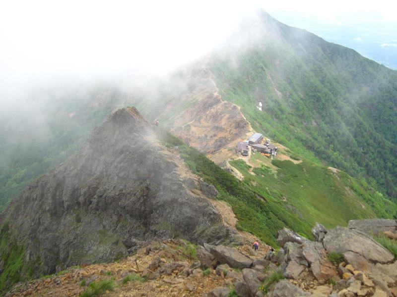 赤岳展望荘への下り