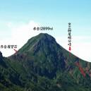 2012年夏に硫黄岳から撮影した赤岳