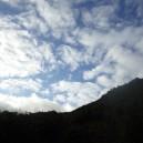 鳥海山東側の空模様