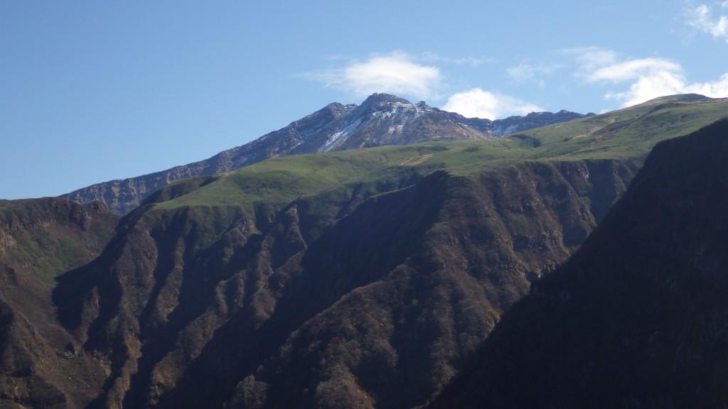 晴れた鳥海山山頂
