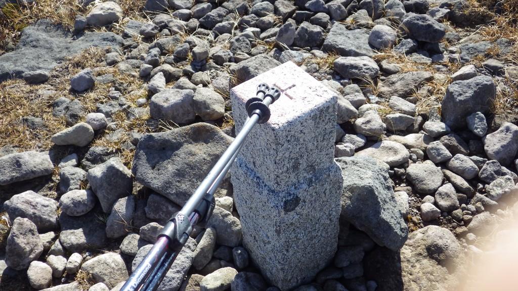 姥ヶ岳山頂三角点(1670m)