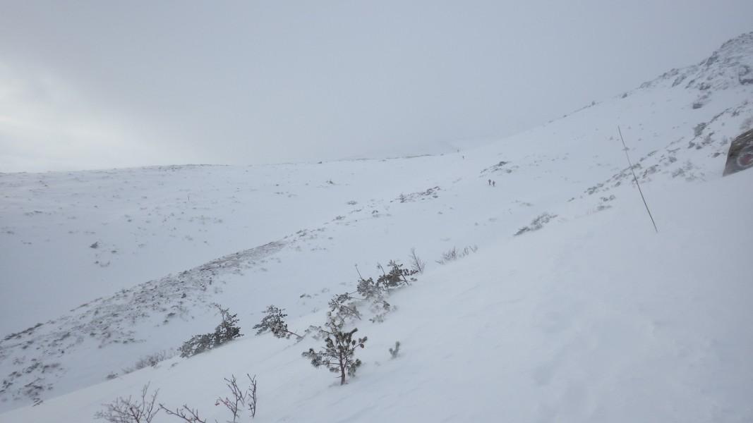 安達太良山山頂への登り