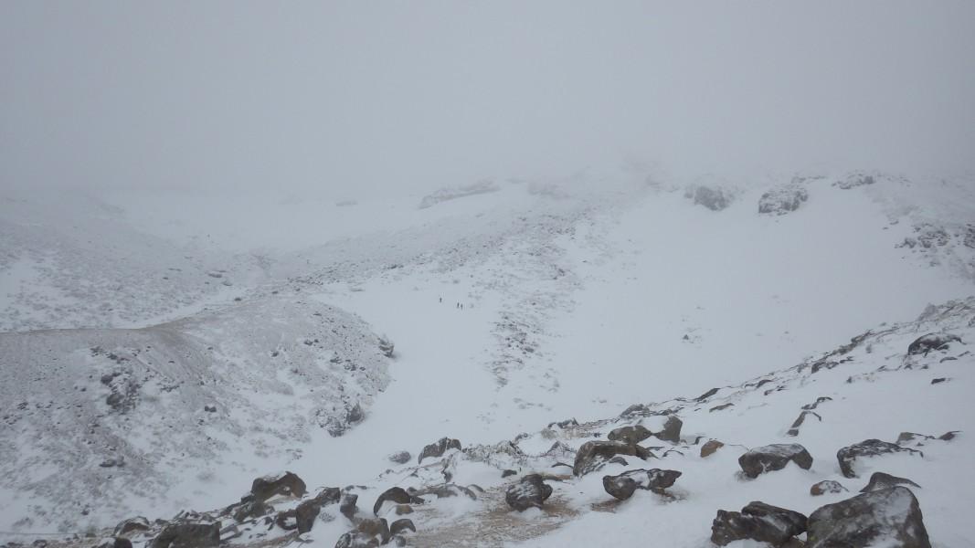 安達太良山頂はずっとガスの中