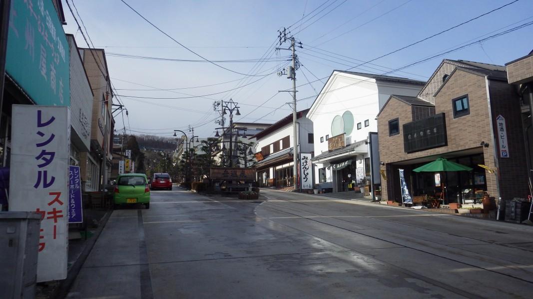 岳温泉のメインストリート