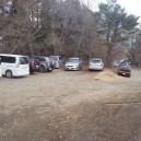 足柄峠登山口前の駐車スペース
