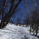黒檜山山頂の道標が見えてきた