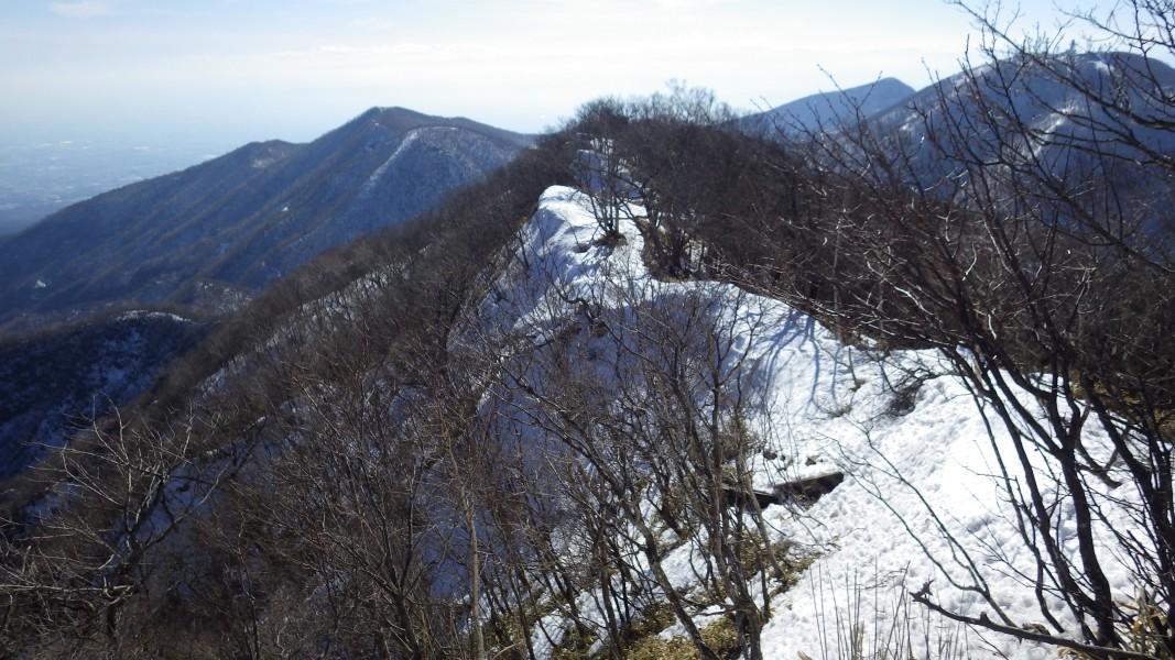 赤城山駒ヶ岳南側の稜線