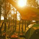 涸沼自然公園キャンプ場の夕日