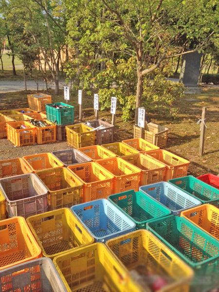 涸沼自然公園キャンプ場、ゴミは分別して捨てる