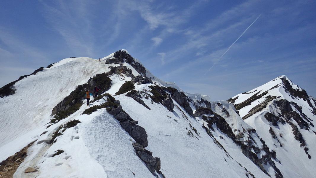 唐松岳頂上山荘手前
