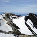唐松岳山頂直下から振り返る