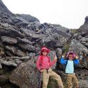 硫黄岳~赤岩の頭間の岩場