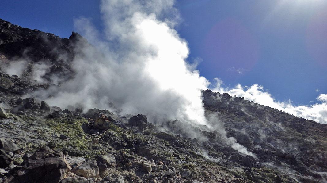 茶臼岳噴気孔
