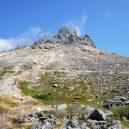 茶臼岳山頂を振り返る