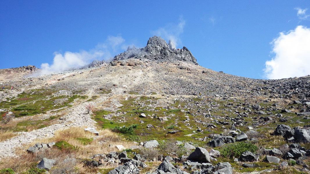茶臼岳山頂西面