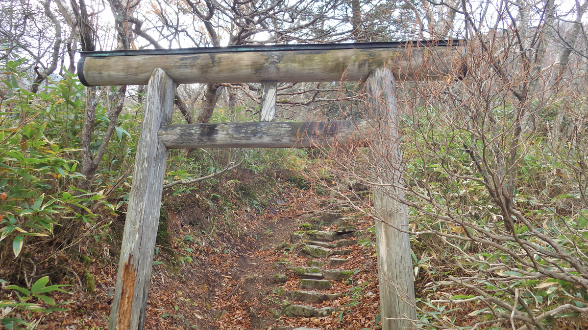 三斗小屋温泉神社の鳥居