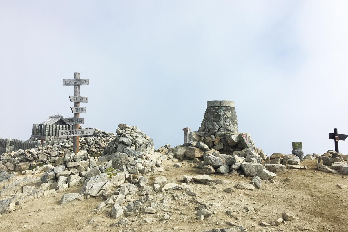 木曽駒山頂