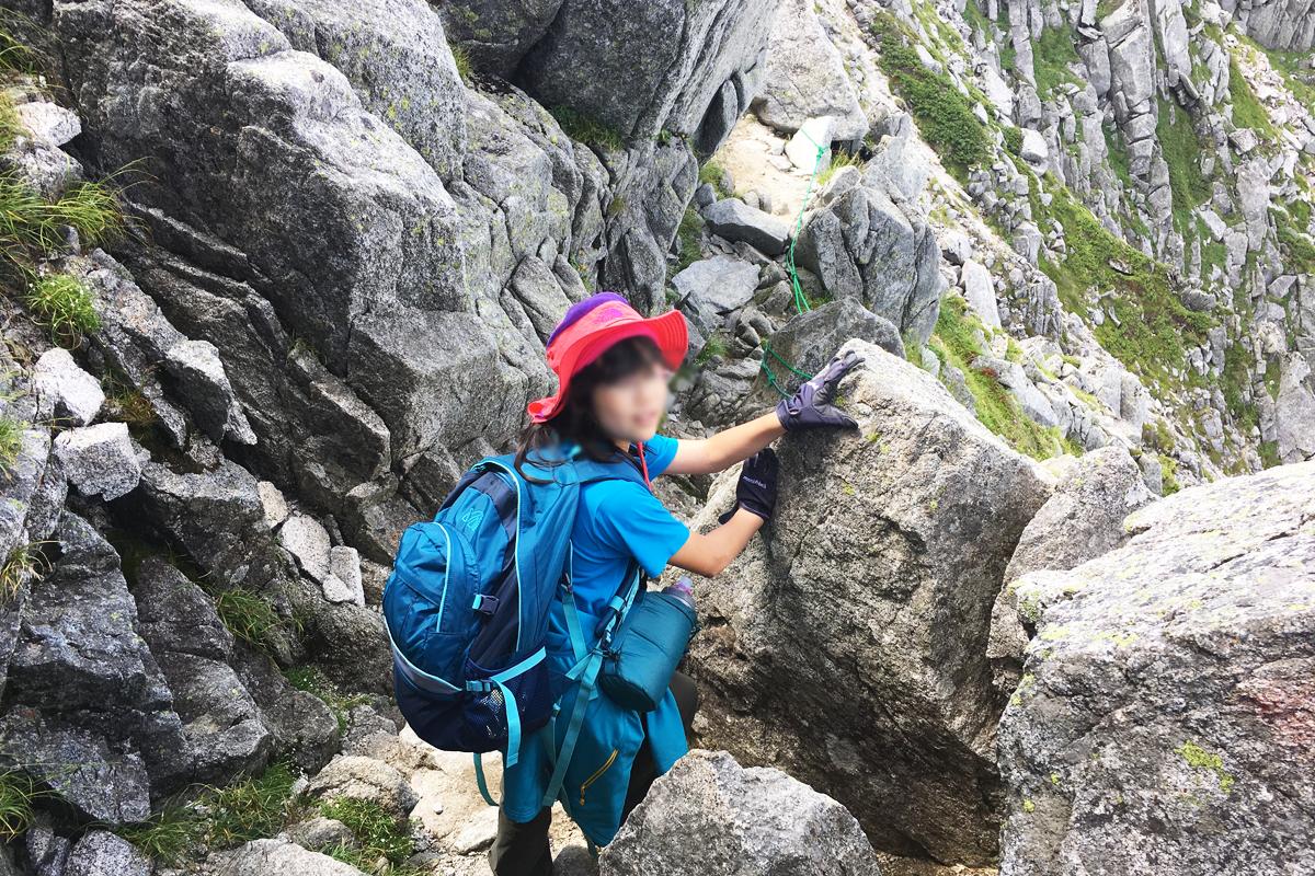 中岳のトラバース