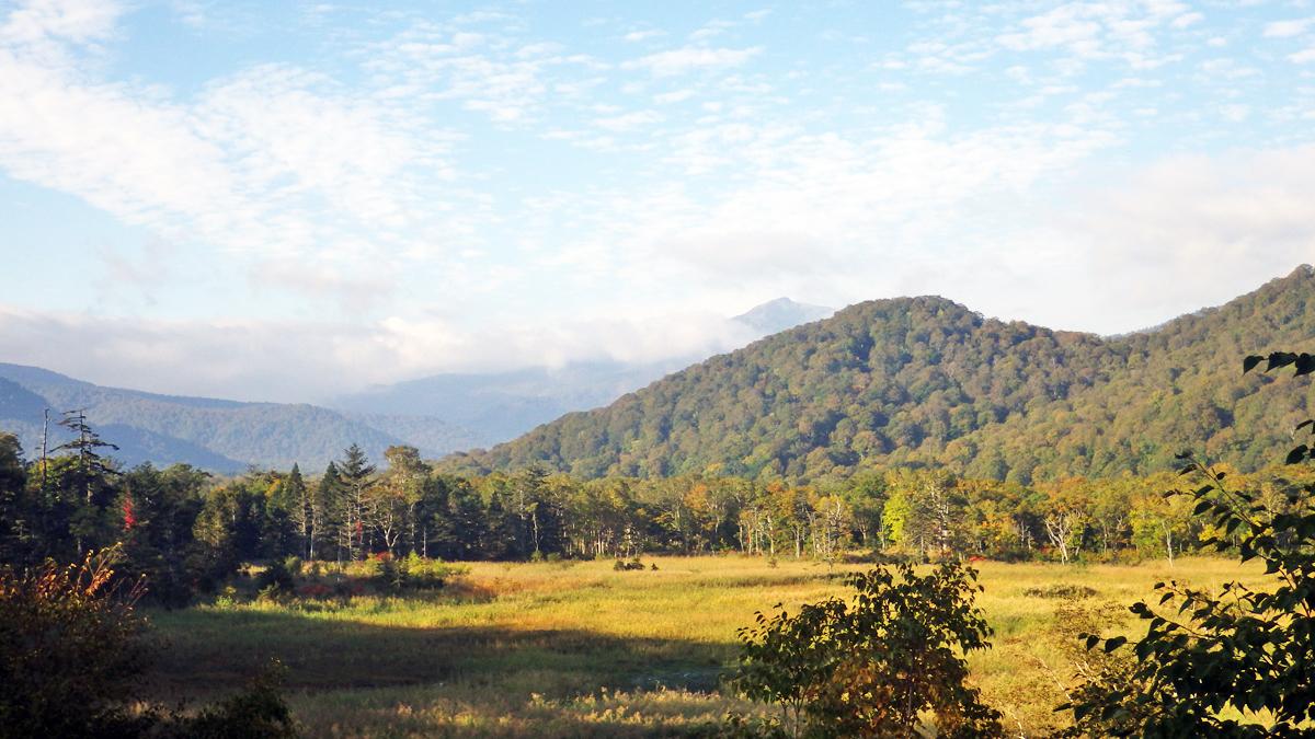 赤田代と至仏山