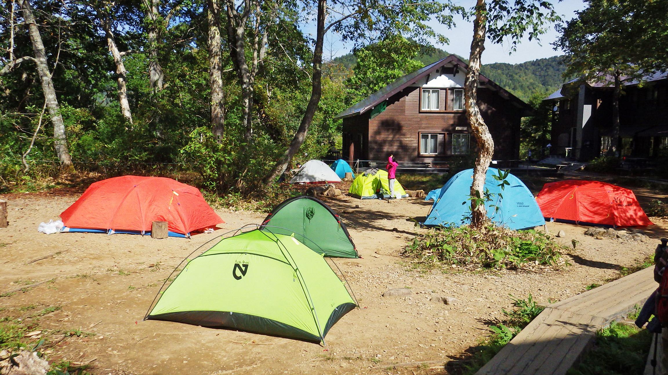 山の鼻キャンプ場
