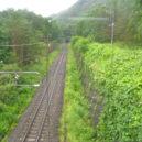男鹿高原駅から見た下り方面