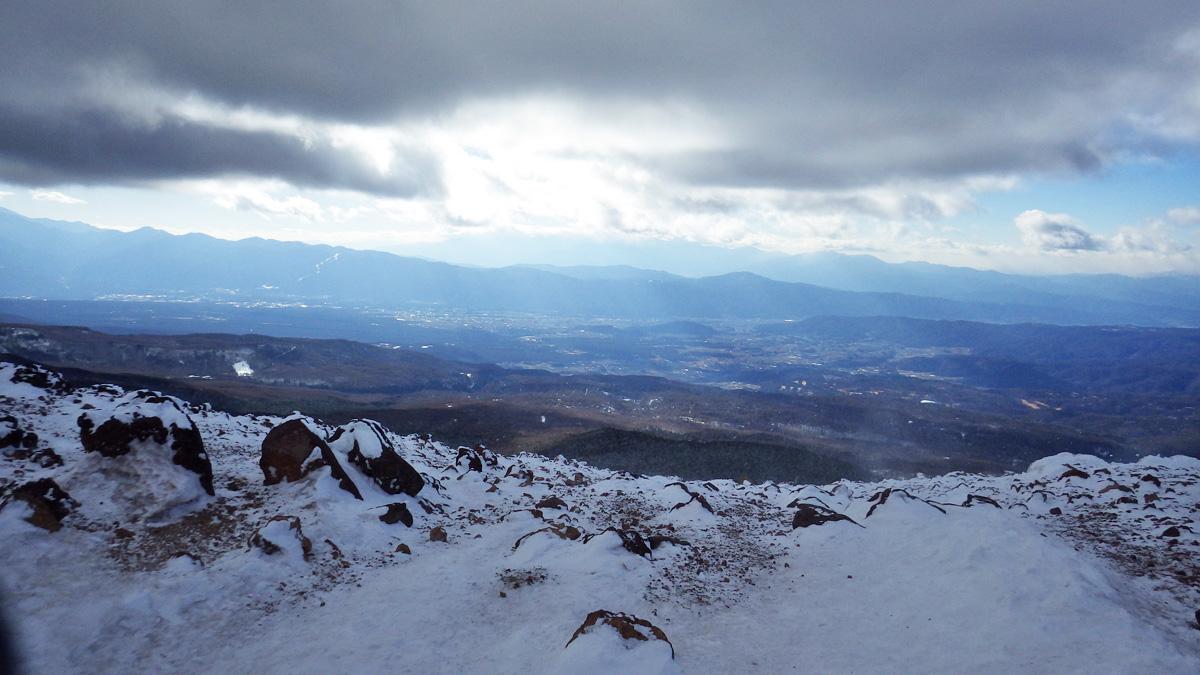 茶臼山展望台からの眺め