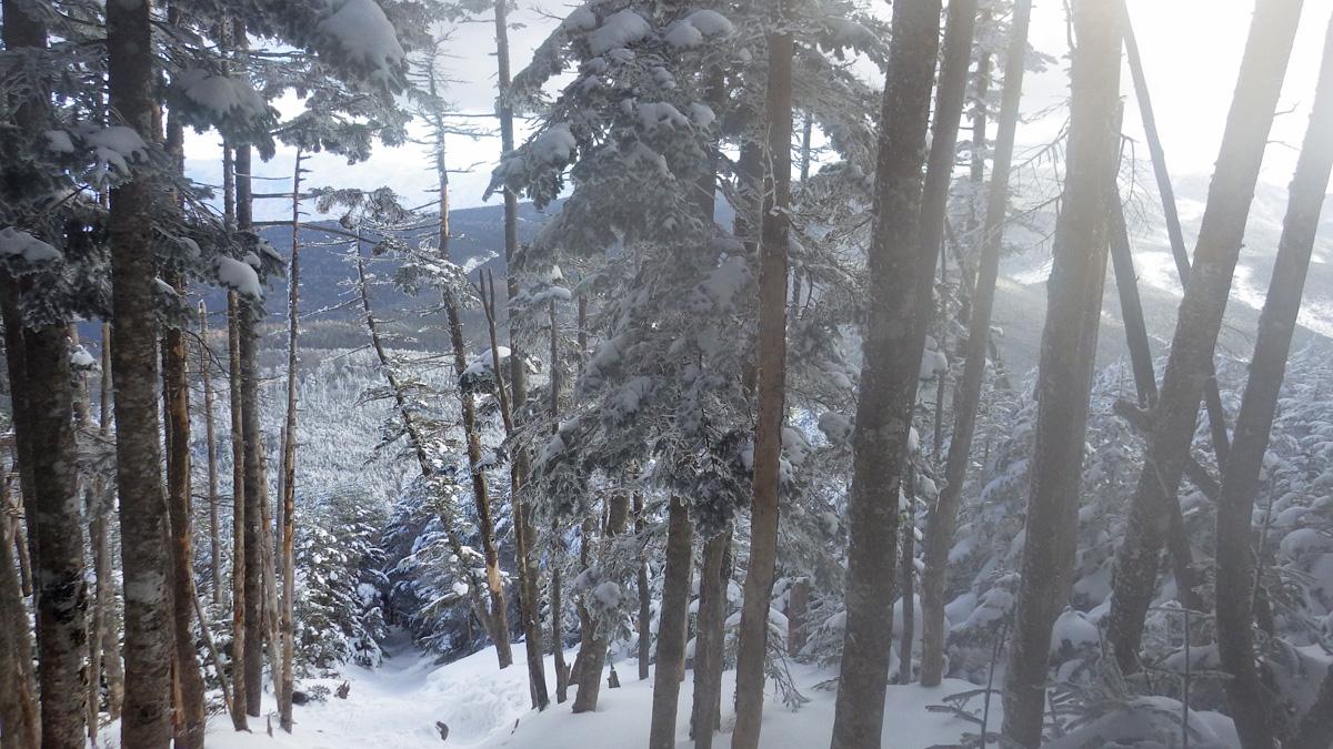 茶臼山の南東、中小場のすぐ上