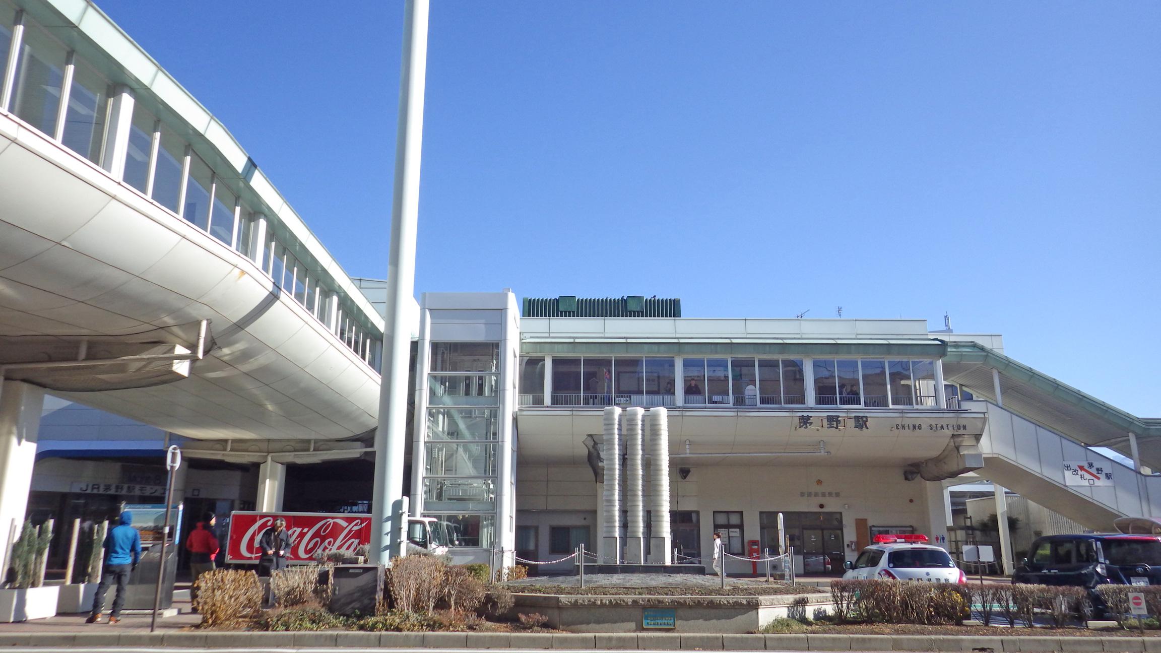 2020年1月2日の茅野駅
