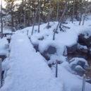 美濃戸~赤岳鉱泉間、北沢の様子