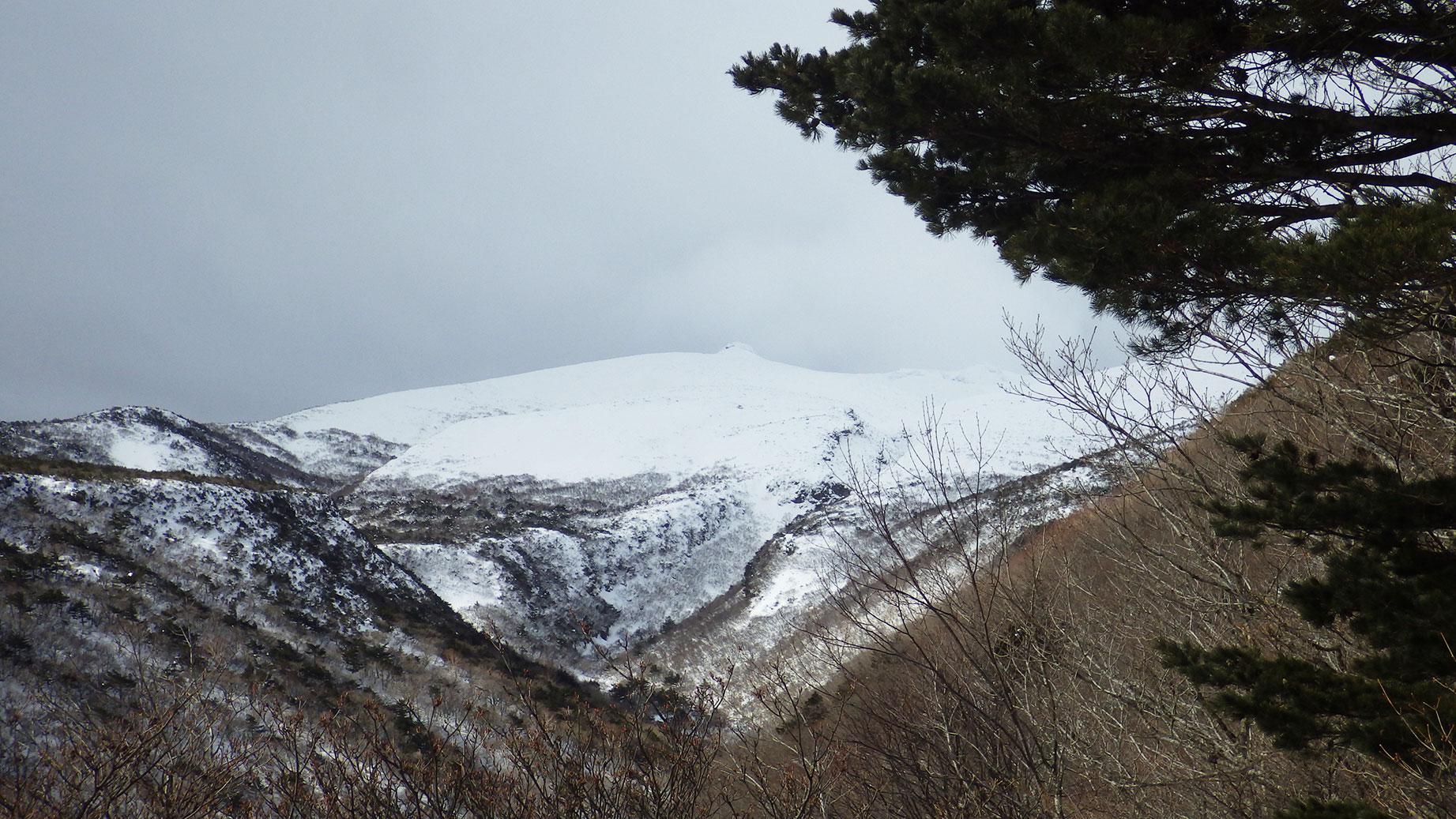 安達太良山頂方面を振り返る