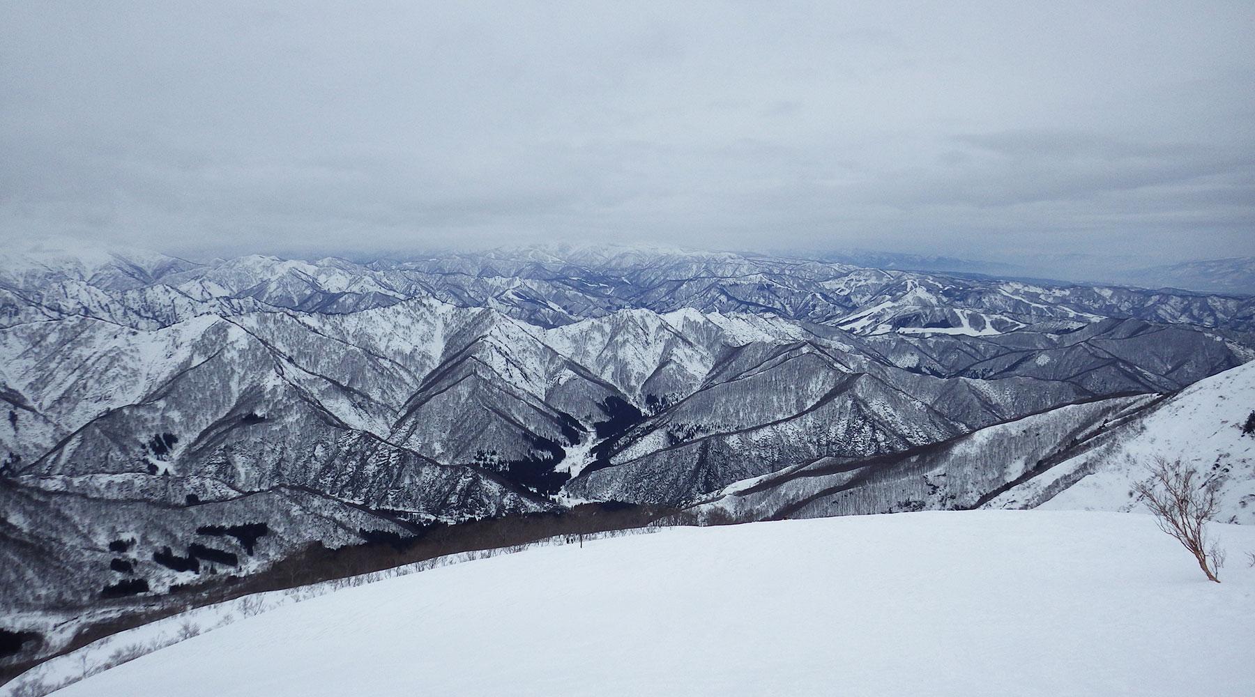 巻機山・井戸尾根中腹から見た北西の風景