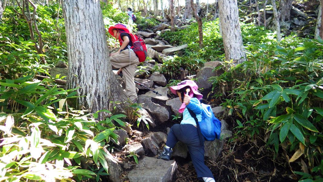 黒檜山への登り