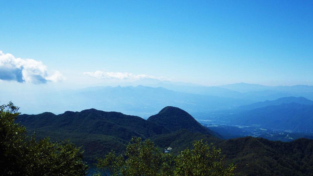 黒檜山展望台からの眺め