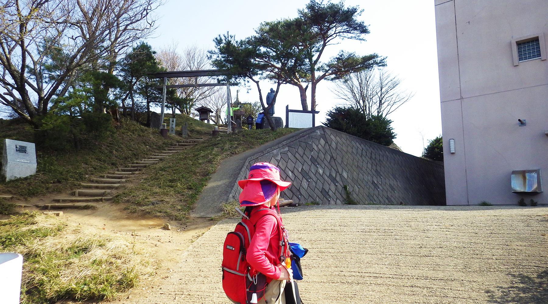 宝篋山山頂直下
