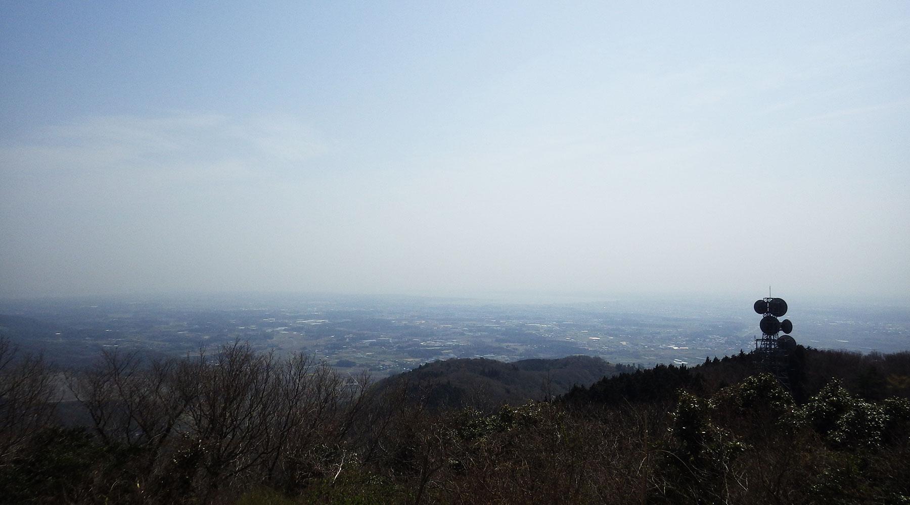 宝篋山山頂から見た霞ヶ浦