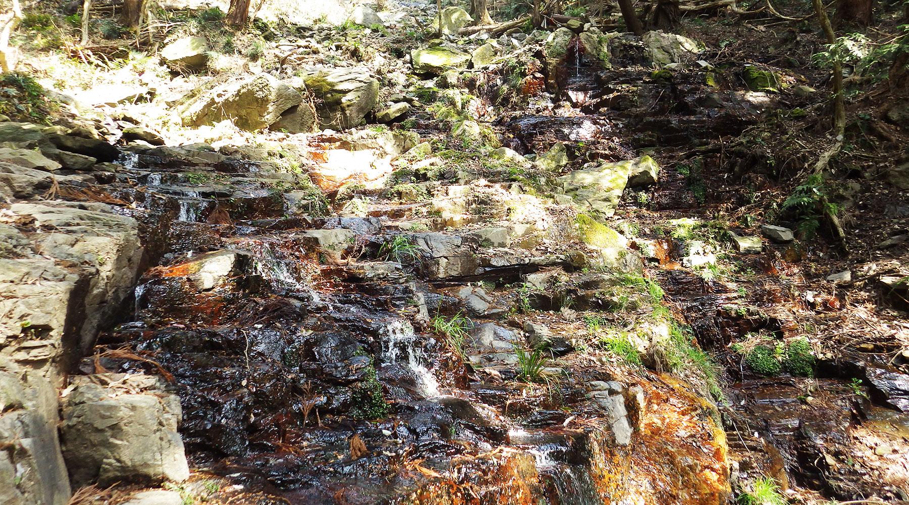極楽寺コースの小滝