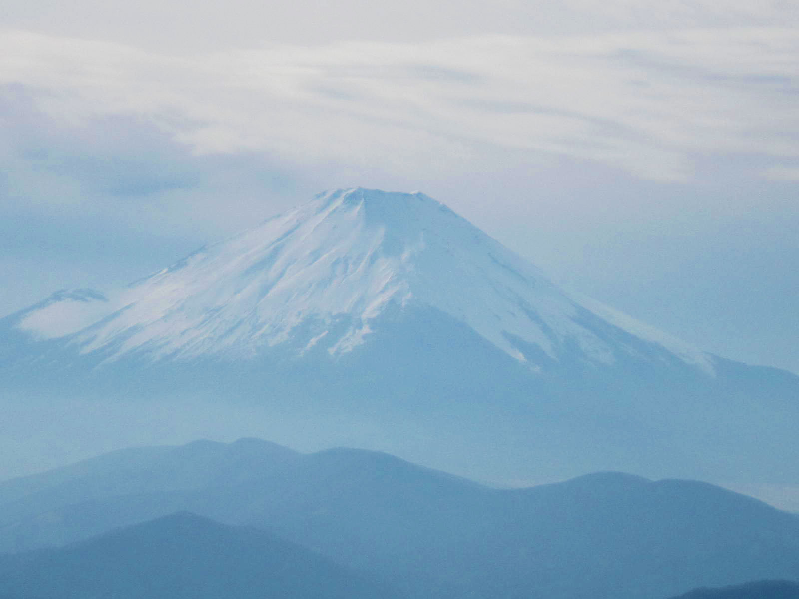 鍋割山から見た富士山