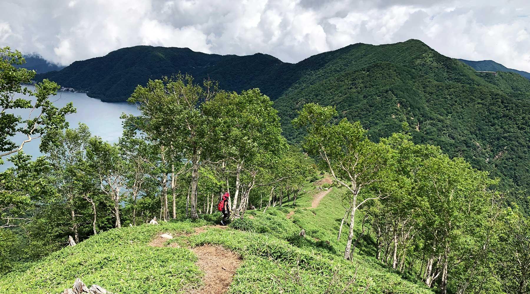 社山の稜線
