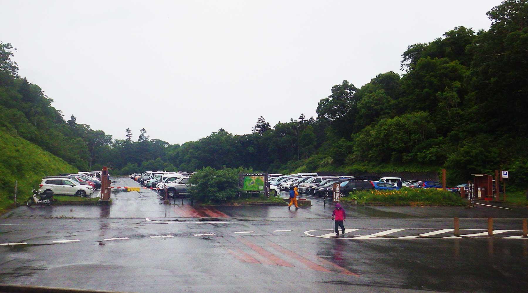 御池登山口駐車場
