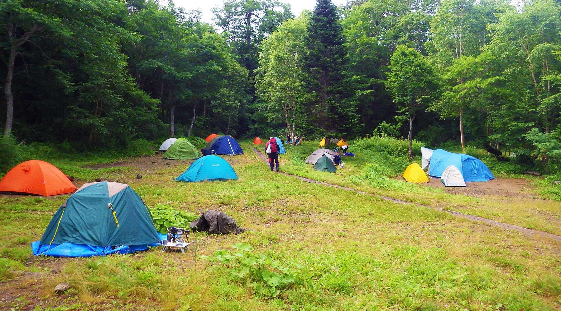 見晴のテント場