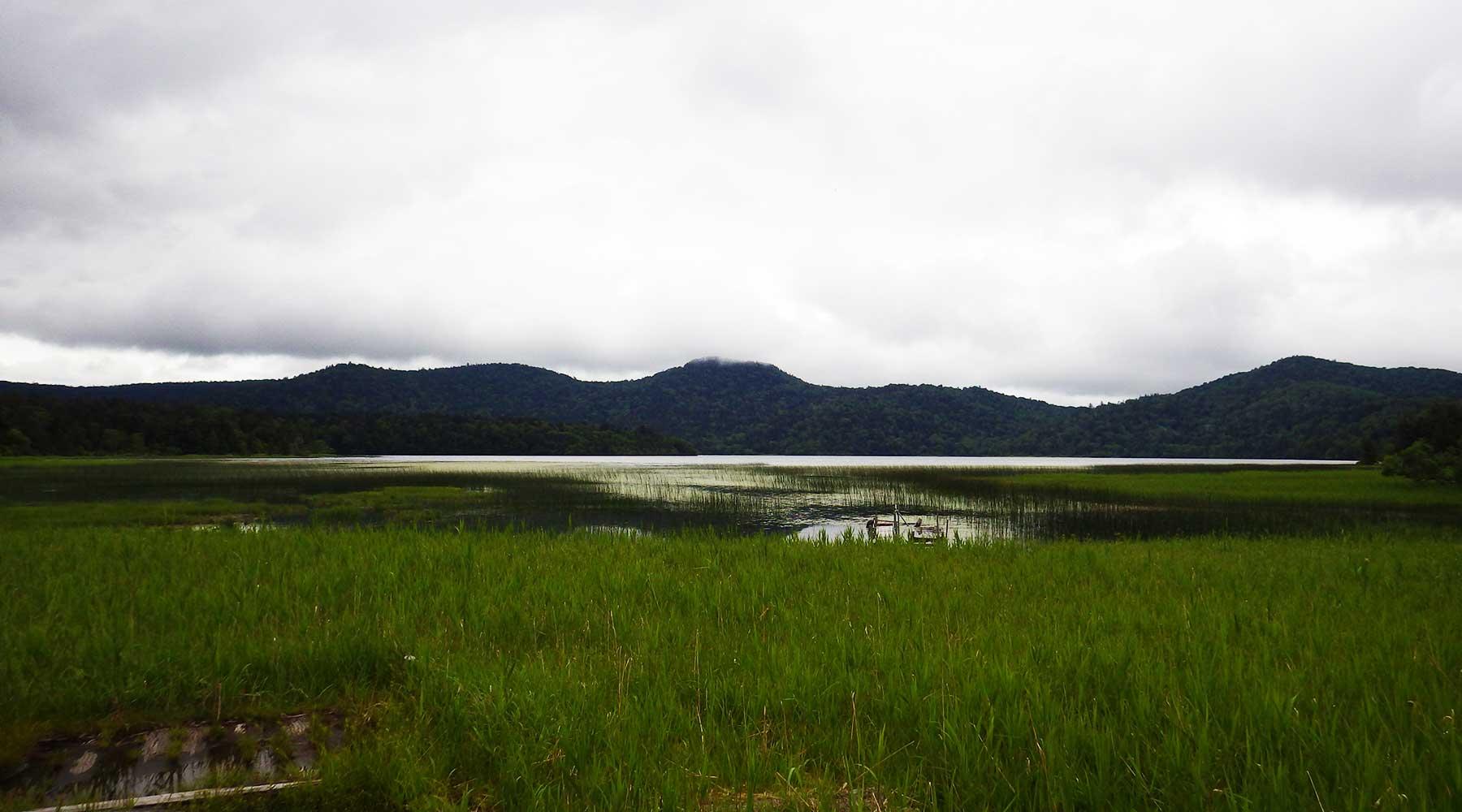 沼尻休憩所から見た尾瀬沼